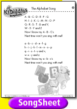 Alphabet Song song and lyrics from KIDiddles