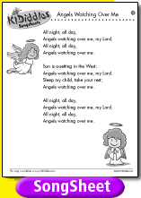 Angels Watching Over Me Song And Lyrics From Kididdles