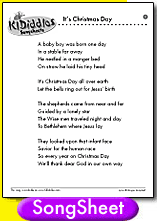It's Christmas Day song and lyrics from KIDiddles