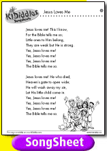 Jesus Loves Me Song And Lyrics From Kididdles