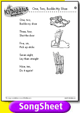 One two buckle my shoe song and lyrics from kididdles for 1 2 buckle my shoe 3 4 shut the door