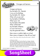 Oranges And Lemons Song And Lyrics From Kididdles
