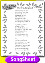 song sheet - Oh Christmas Tree How Lovely Are Your Branches Lyrics