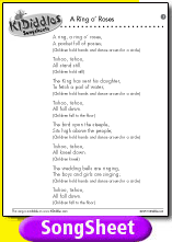 A ring o 39 roses song and lyrics from kididdles for 1234 get on the dance floor song with lyrics